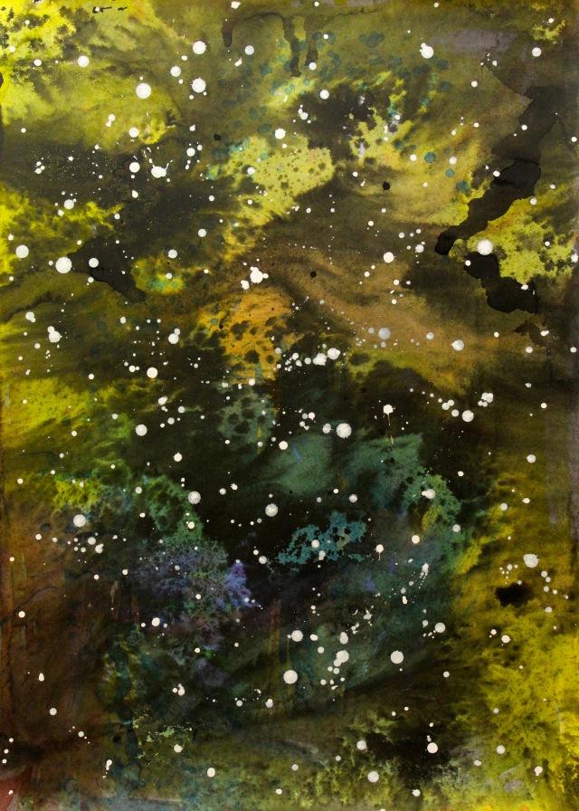 Sternenbild Nr.6080610, 69,8x50cm, 2010, Aquarell, chin Reibtusche auf Papier,2397